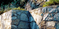 Natural Quarry Granite Tiered Wall